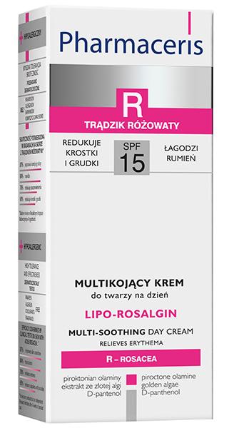 სახის დამატენიანებელი კრემი  SPF 15 -  - ფარმაცერისი / LIPO-ROSALGIN - Pharmaceris