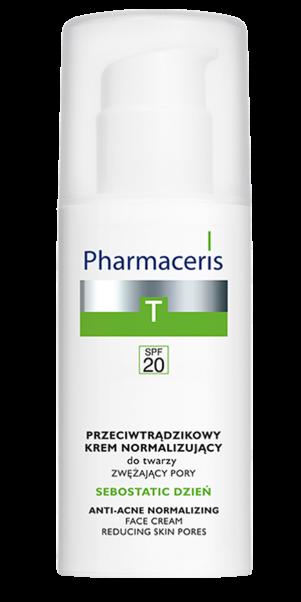 აკნეს საწინააღმდეგო დღის კრემი - ფარმაცერისი / SPF 20 –  SEBOSTATIC  DAY - Pharmaceris