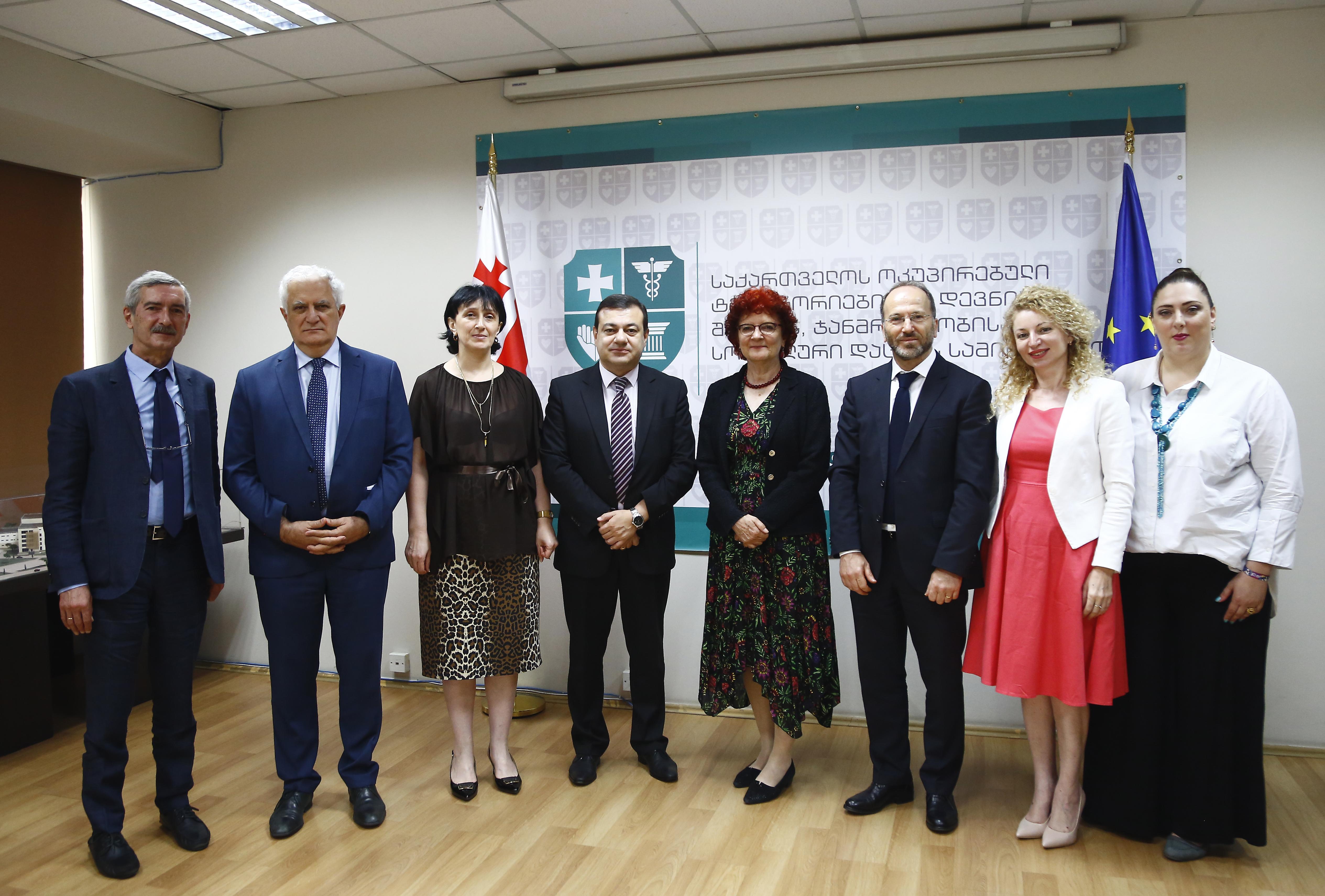 ევროპის დაავადებათა პრევენციისა და კონტროლის ცენტრის (European Center for Disease prevention and Control – ECDC) დირექტორის - ქალბატონი ანდრეა ამონის პირველი ვიზიტი საქართველოში.