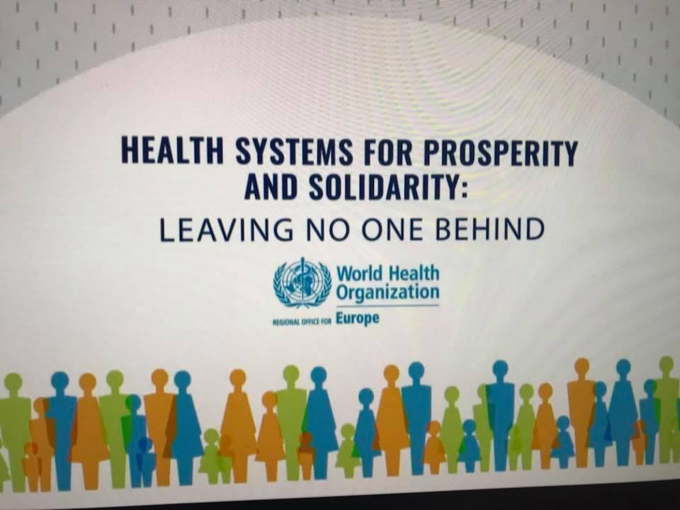 ჯანდაცვის სისტემები კეთილდღეობისა და სოლიდარობის მხარდასაჭერად - ნუ დავტოვებთ ნურავის უყურადღებოდ.