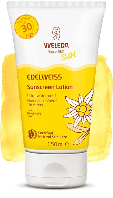 ედელვაისის მზისგან დამცავი ტანის კრემი, ფაქტორი 30 - ველედა / Edelweiss Sunscreen Lotiol - WELEDA