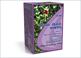 დათვის კენკრას ფოთოლი / Folia arctostaphylos uva ursi