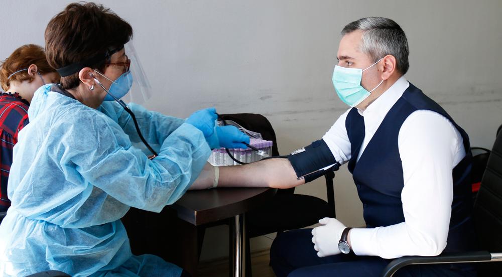 დევნილთა სააგენტოში სისხლის უანგარო დონაციის აქცია გაიმართა