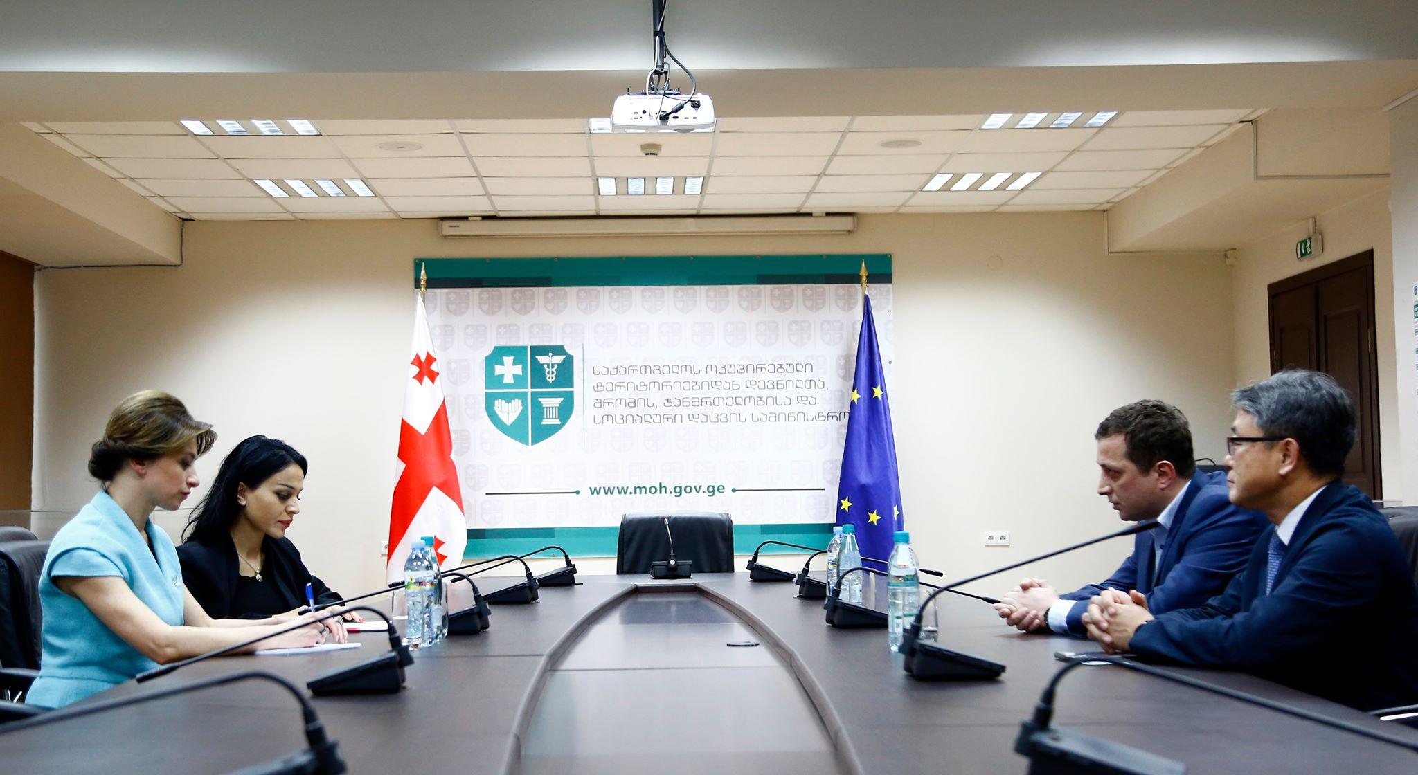 საქართველოში ტრანსპლანტოლოგიის დარგის განვითარებასთან დაკავშირებით  ჯანდაცვის მინისტრმა შეხვედრა გამართა