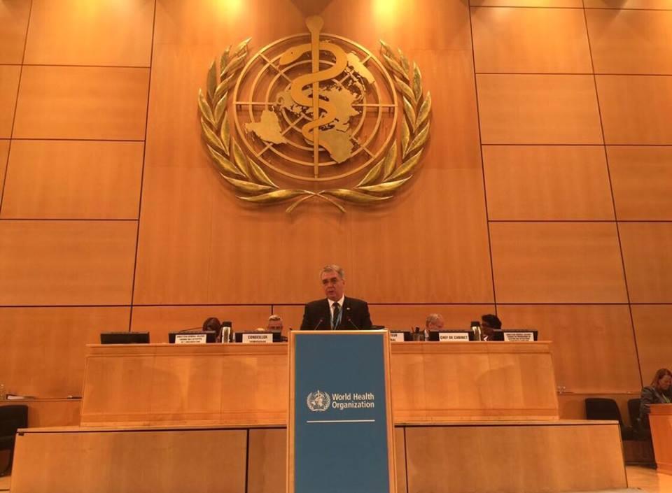 შრომის, ჯანმრთელობისა და სოციალური დაცვის მინისტრი დავით სერგეენკო ქ.ჟენევაში მიმდინარე ჯანდაცვის მსოფლიო ორგანიზაციის ასამბლეის 71-ე სხდომაში მონაწილეობს