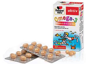 დოპელჰერც აქტივი ომეგა-3 ვიტამინი A+D+E+C საბავშვო / Doppelherz aktiv Omega-3 Kids