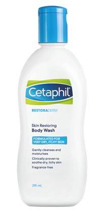 სეტაფილ რესტორადერმი -  ტანის დასაბანი  მშრალი, ატოპიისადმი მიდრეკილი კანისთვის / Skin Restoring Body Wash