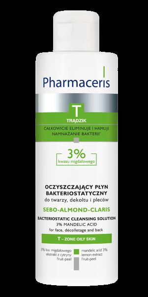 ბაქტერიოსტატიკური 3% სითხე - ფარმაცერისი / SEBO – ALMOND – CLARIS - Pharmaceris